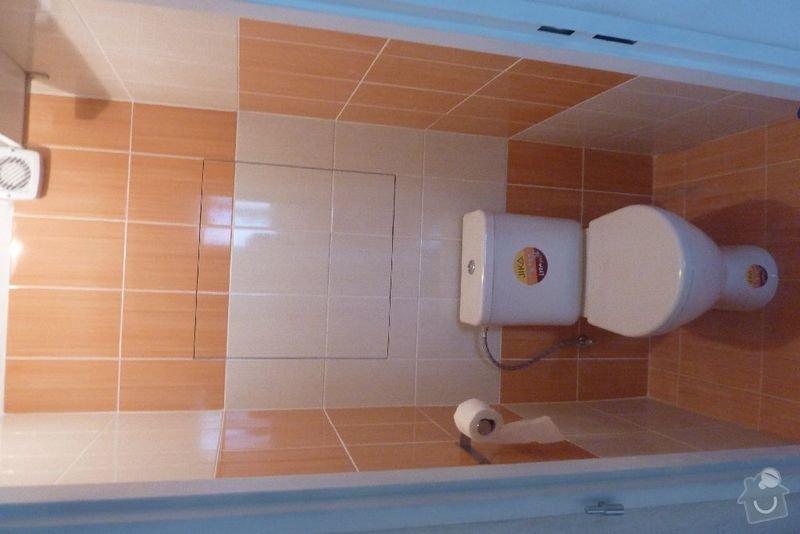 Rekonstrukce koupelny ,rekonstrukce kuchyně,pokládka dlažby , : P1000703_zachod_prosek