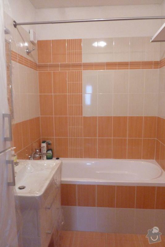 Rekonstrukce koupelny ,rekonstrukce kuchyně,pokládka dlažby , : P1000695_koupelna_prosek