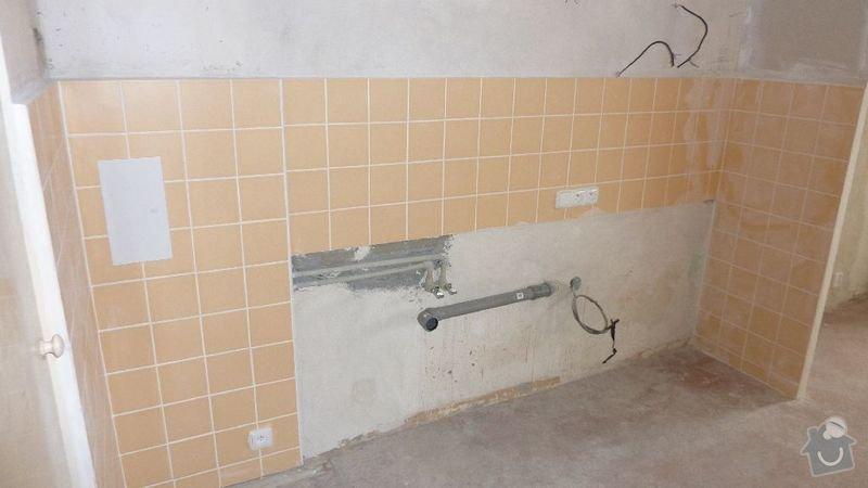 Rekonstrukce kuchyně, navýšení rozvodu elektřiny na 380V, obklad pro kuchyň, příčka SDK: vrs_kuch