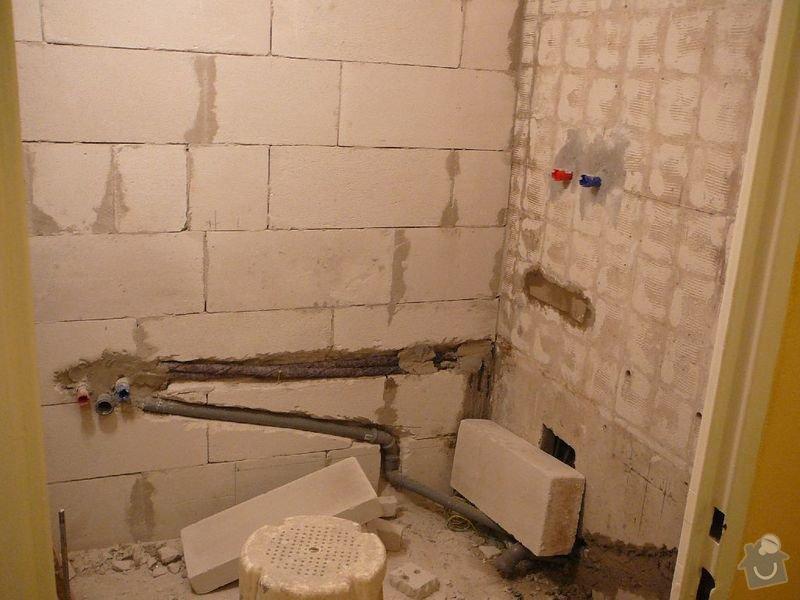 Rekonstrukce koupelny , elektroinstalace, rozvod vody a odpadů: P1050956jirka