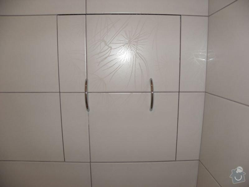 Rekonstrukce koupelny,vestavěné skříně : reviz