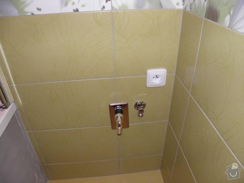 Rekonstrukce koupelny,vestavěné skříně : ventil