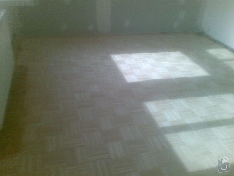 Přebroušení dřevěné podlahy a nalakování: 02042011_009_