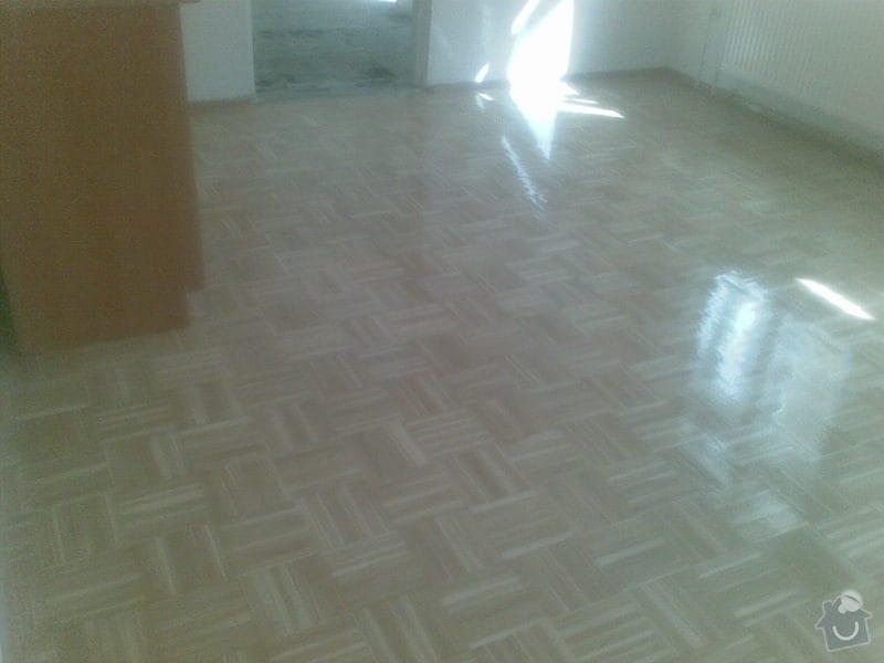 Přebroušení dřevěné podlahy a nalakování: 06042011