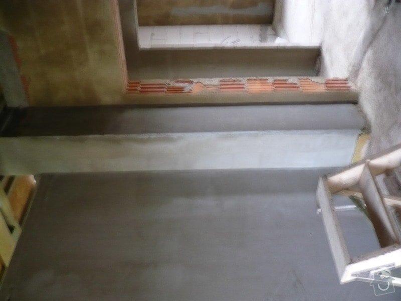Vnitřní jádrové a štukové omítky, izolace podlahy.: P1030102