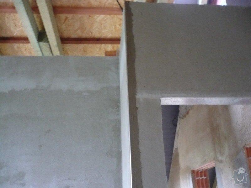 Vnitřní jádrové a štukové omítky, izolace podlahy.: P1030165