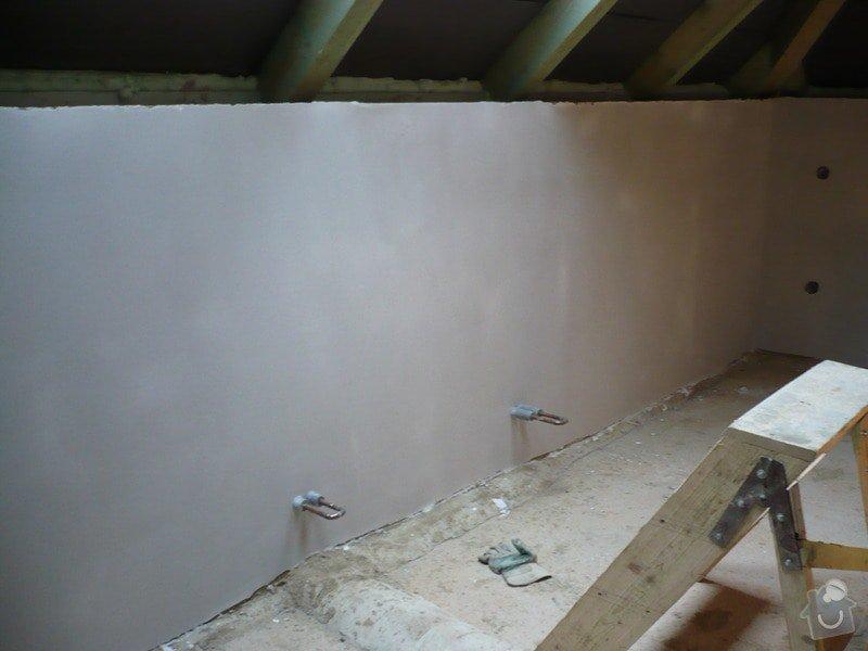Vnitřní jádrové a štukové omítky, izolace podlahy.: P1030180