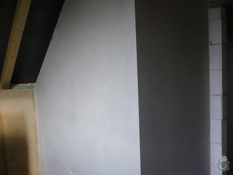 Vnitřní jádrové a štukové omítky, izolace podlahy.: P1030209