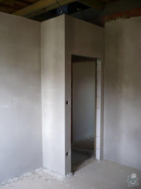 Vnitřní jádrové a štukové omítky, izolace podlahy.: P1030213