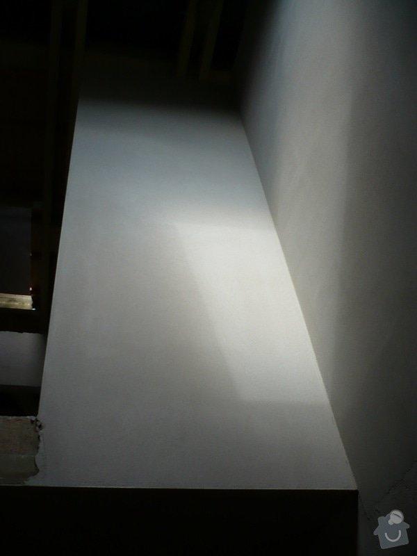 Vnitřní jádrové a štukové omítky, izolace podlahy.: P1030237