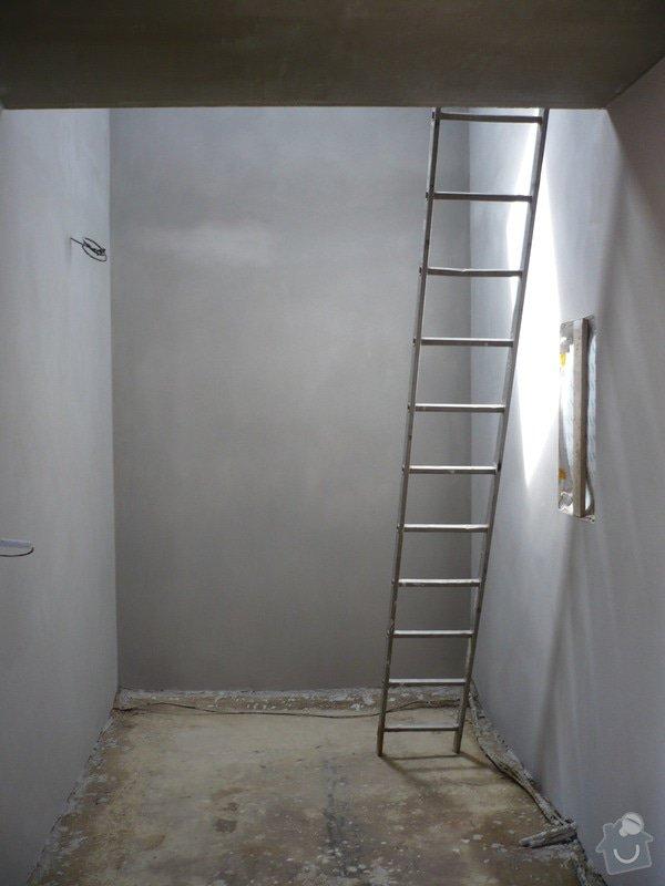 Vnitřní jádrové a štukové omítky, izolace podlahy.: P1030243