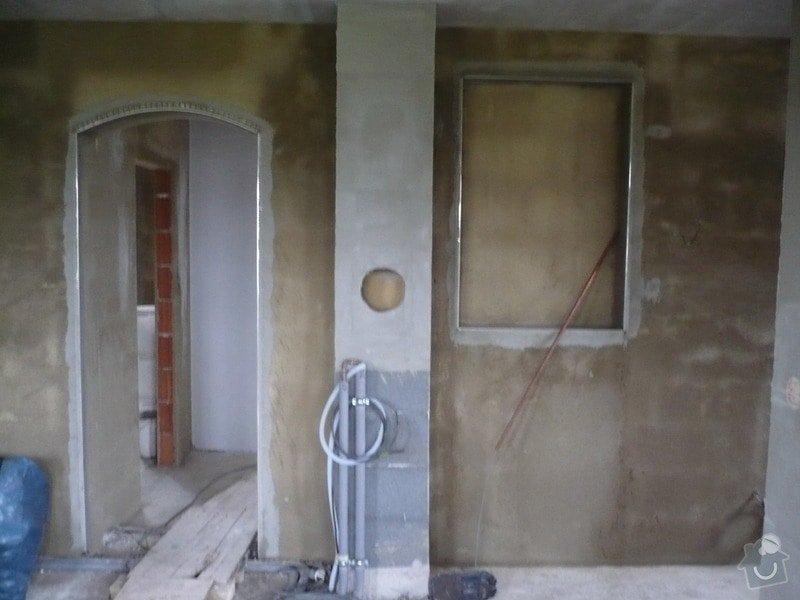 Vnitřní jádrové a štukové omítky, izolace podlahy.: P1030256