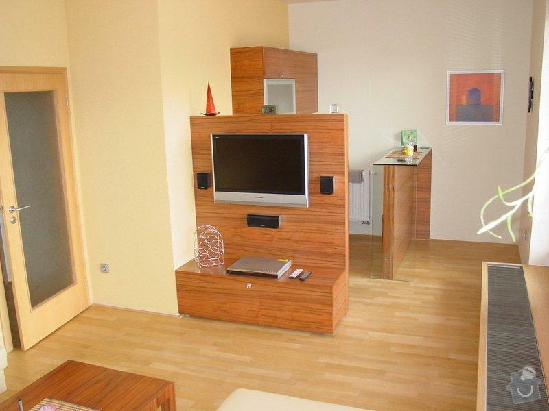 Instalace AV rozvodů v bytě, montáž Tv, ozvučení: DSC05071