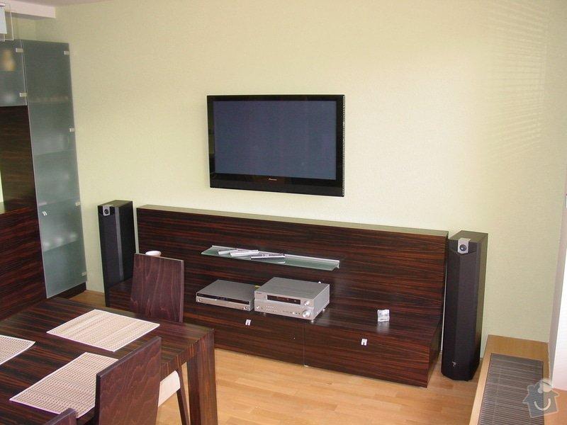 Instalace AV rozvodů v bytě, montáž Tv, ozvučení: DSC05070