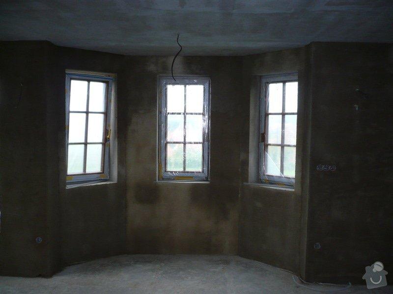 Vnitřní jádrové a štukové omítky, izolace podlahy.: P1030257
