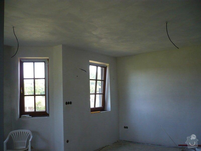 Vnitřní jádrové a štukové omítky, izolace podlahy.: P1030275
