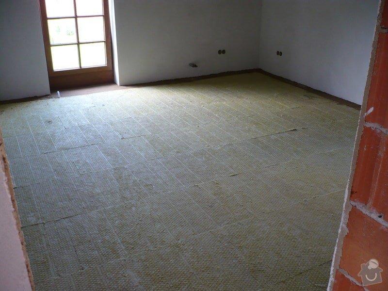 Vnitřní jádrové a štukové omítky, izolace podlahy.: P1030291