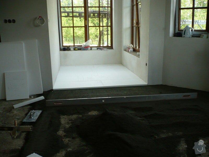 Vnitřní jádrové a štukové omítky, izolace podlahy.: P1030301
