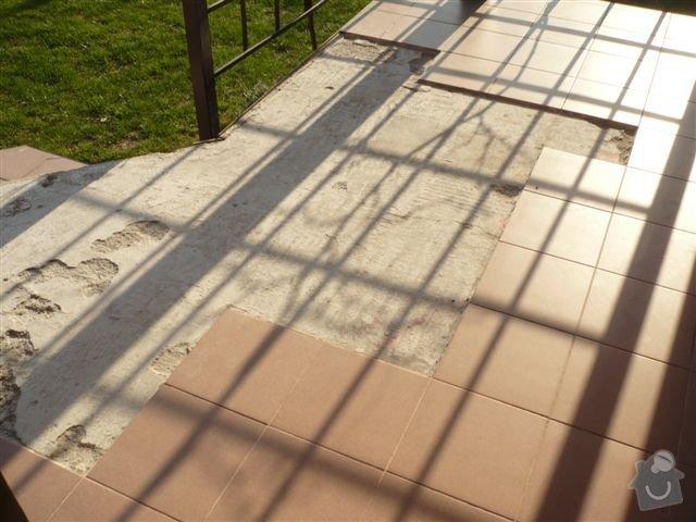 Pokládka dlažby na venkovní terasu: P1040983