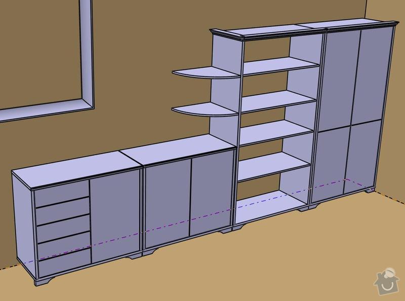 Výroba nábytku na míru pro obývák: celek
