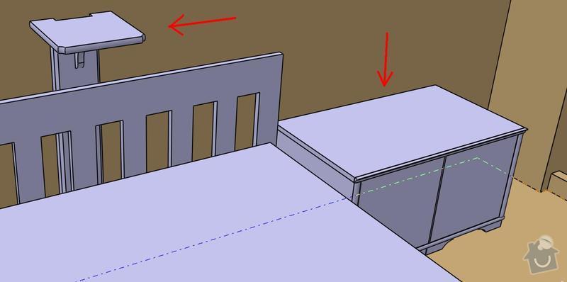 Výroba nábytku na míru pro obývák: u_postele