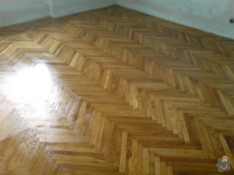 Renovace dubových parket a smrk. podlahy : DSC01788