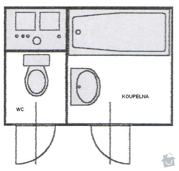 Rekonstrukce koupelnového jádra: Jadro