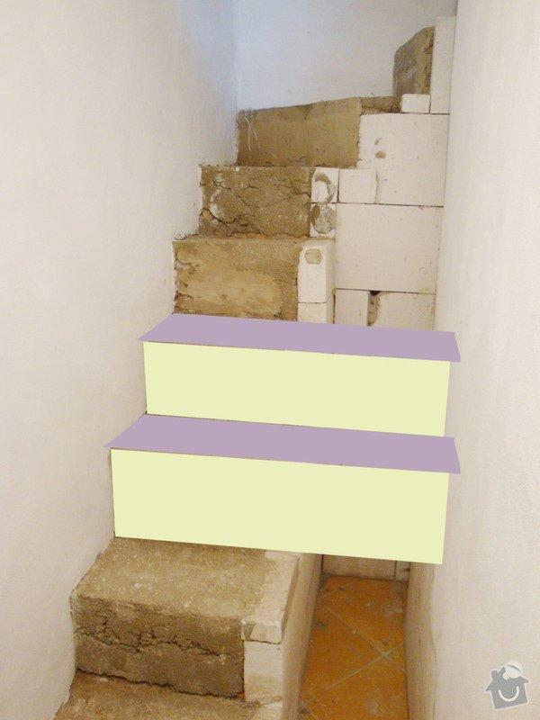 Obložení betonového schodiště dřevem: schodiste3a