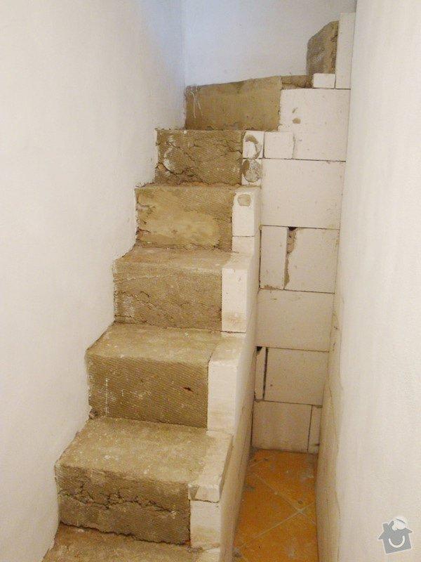 Obložení betonového schodiště dřevem: schodiste3