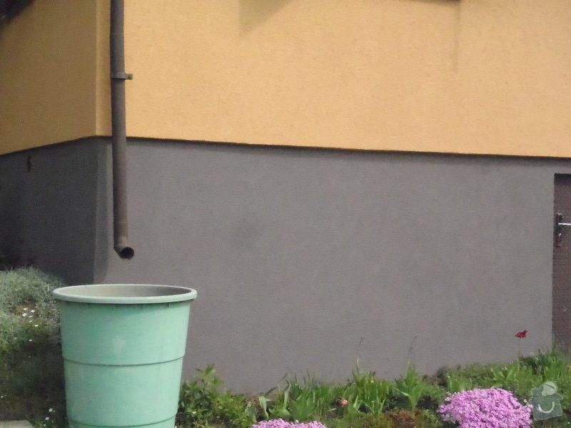 Oprava a nátěr fasády-sokl,stavba truhlářských doplňku zahrady.: P4280304