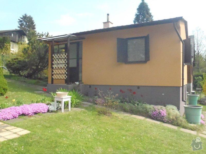 Oprava a nátěr fasády-sokl,stavba truhlářských doplňku zahrady.: P4280307