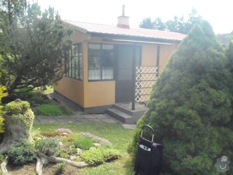 Oprava a nátěr fasády-sokl,stavba truhlářských doplňku zahrady.: P4280308