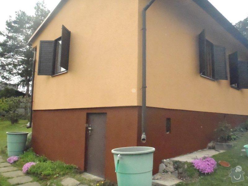 Oprava a nátěr fasády-sokl,stavba truhlářských doplňku zahrady.: P4280326