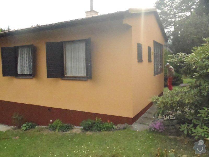 Oprava a nátěr fasády-sokl,stavba truhlářských doplňku zahrady.: P4280329