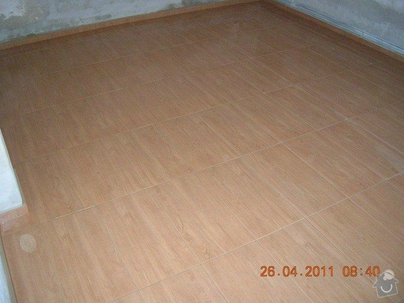 Pokládka dlažby na chalupě: DSCN3962
