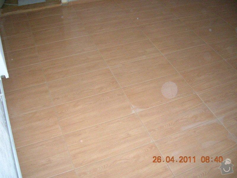 Pokládka dlažby na chalupě: DSCN3963