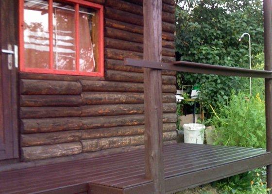 Krytá terasa chatky