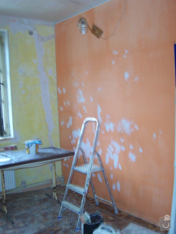 Rekonstrukce schodů a pokojů: _kr_b_n_malby