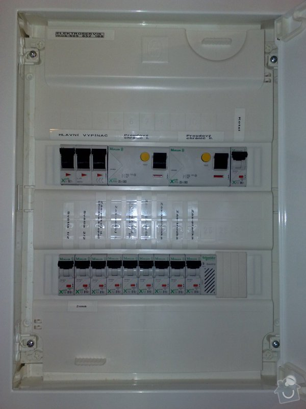 Nová elektroinstalace v bytě 4+1 Holešovice: 002