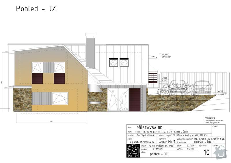 Stavbu střechy + zateplení: v.c._10_-_pohled_-_JZ