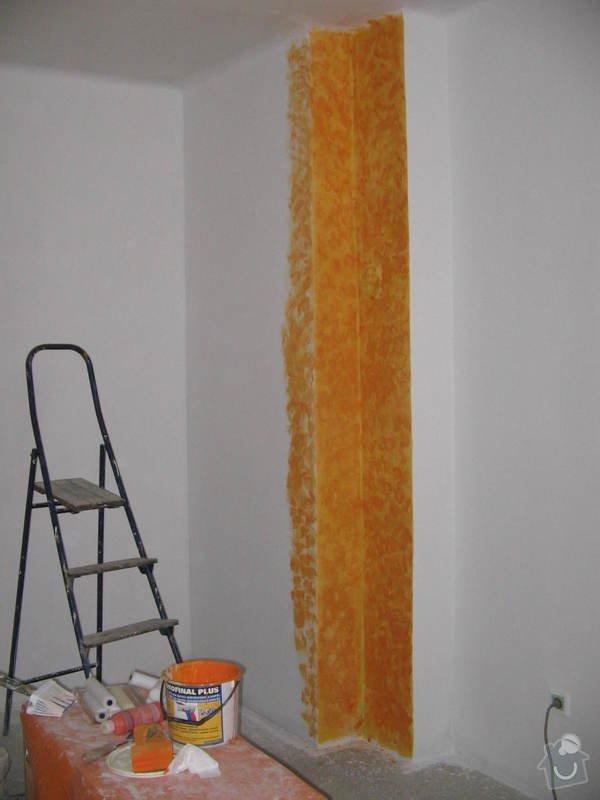 Rekonstrukce schodů a pokojů: v_malba