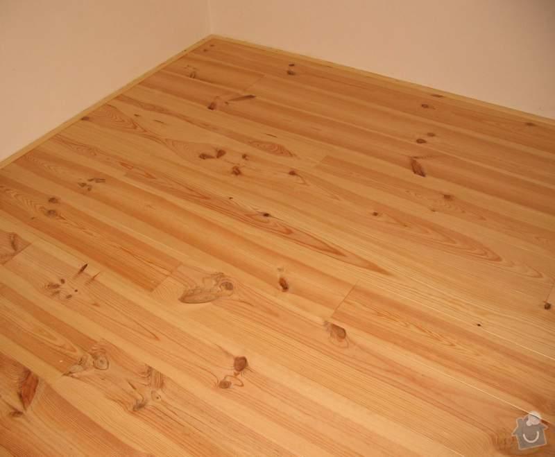Dodávka a montáž masivní podlahy do obytných místností prvního patra novostavby: c