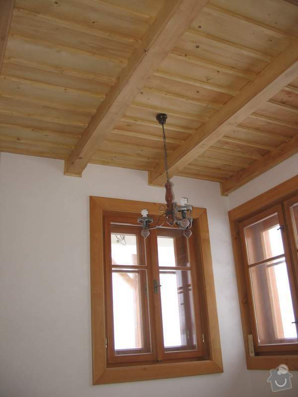 Dodávka a montáž stropního trámového obkladu do novostavby: IMG_7227