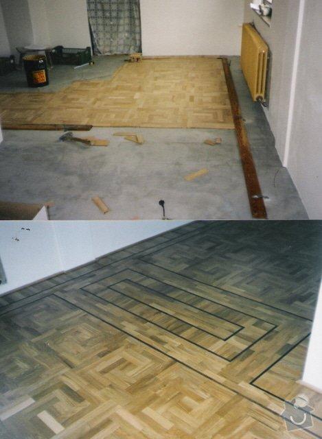 Dodávka a montáž masivní dubové podlahy: 2