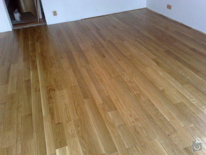 Montáž masivní podlahy do obytné místností: 038