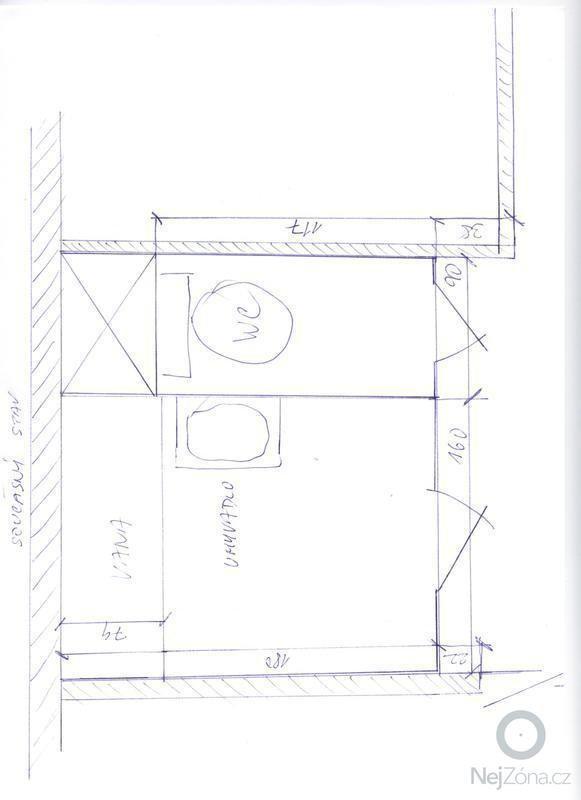 Rekonstrukce koupelny a záchodu v panelovém domě: 001