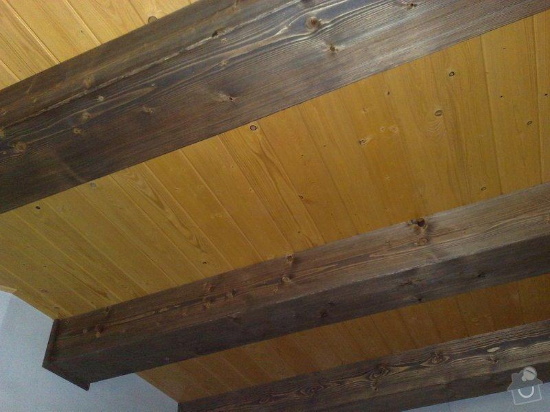 Dodávka a montáž obložení stropu a stěny ložnice: 4