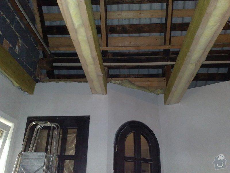 Dodávka a montáž obložení stropu a stěny ložnice: 5