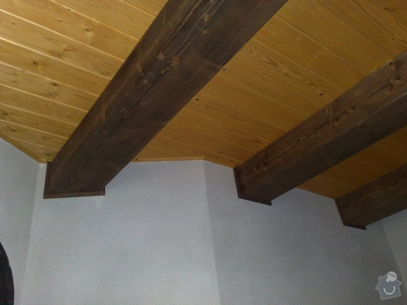 Dodávka a montáž obložení stropu a stěny ložnice: 7