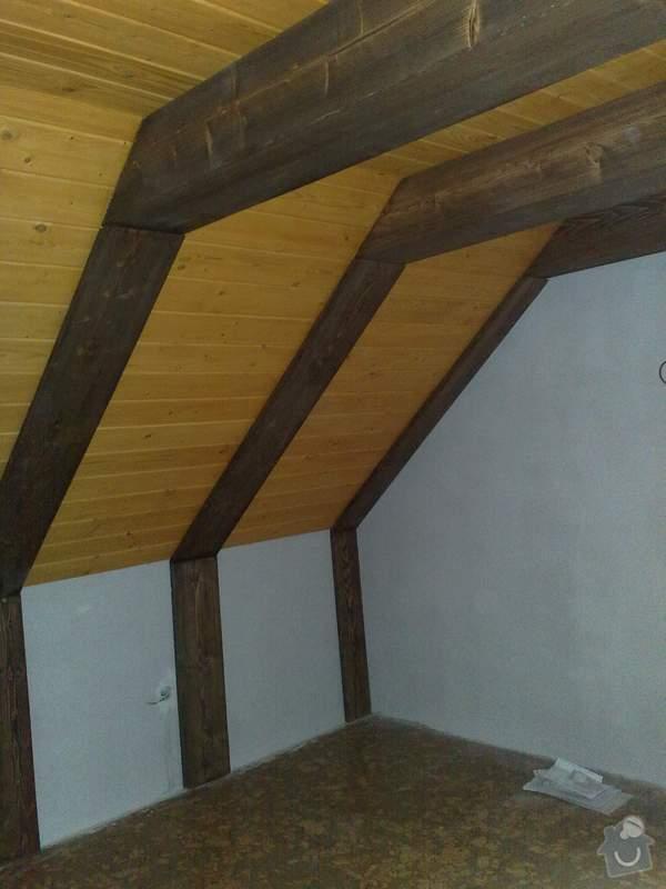 Dodávka a montáž obložení stropu a stěny ložnice: 9